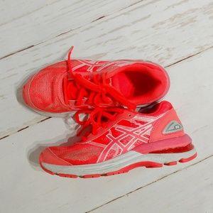 Girls Asics Orange/Coral Tennis Shoes